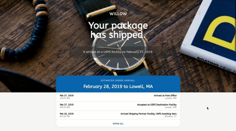 Consumer Connect from Pitney Bowes enables retailers to create a branded tracking and post-purchase experience (Photo: Business Wire)