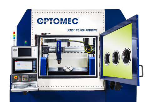 Optomec LENS CS 800 System. Photo courtesy of Optomec.