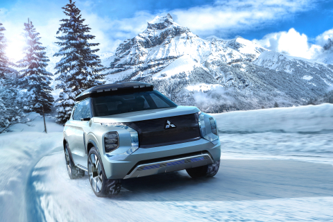 Mitsubishi Motors announces the world premiere of the ENGELBERG TOURER and DENDO DRIVE HOUSE concepts at the 2019 Geneva International Auto Show. (Photo: Business Wire)