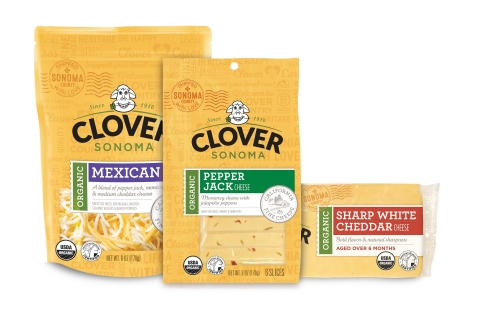 Made with AHA certified organic milk from Northern California family owned dairy farms, Clover Sonoma's new organic cheese line is a rich reflection of what happens when the best ingredients meet the most conscious dairy practices. (Photo: Business Wire)