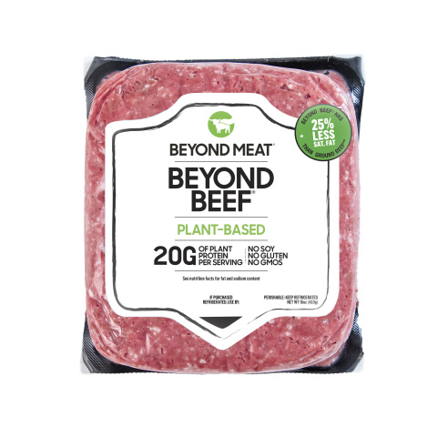 Beyond Beef, the latest product innovation from Beyond Meat, delivers on the meaty taste, texture an ...