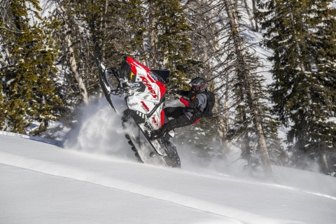 The new 2020 RMK® KHAOS® 155 is a true all-mountain sled for riders looking for the most playful, fun and most agile sled in all riding conditions. (Photo: Business Wire)