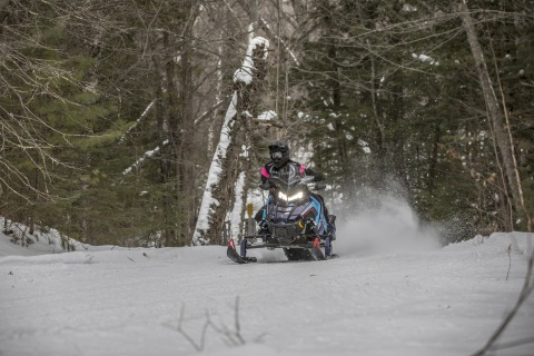 The 2020 model year also marks the 40th anniversary of the most legendary model name in snowmobile history: INDY®. INDY® Adventure 137 brings high-performance riders the ultimate in handling and versatility. (Photo: Business Wire)