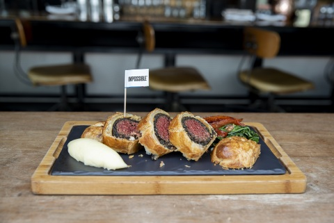 The Impossible Wellington, made with Impossible meat, from Bread Street Kitchen by Gordon Ramsay. (Photo: Business Wire)