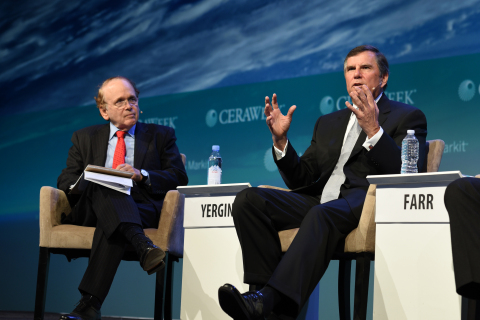 Emerson Chairman and CEO David Farr will join IHS Markit Vice Chairman and CERAWeek Chairman Daniel Yergin at CERAWeek by IHS Markit 2019 for a discussion on North American infrastructure at 5:50 p.m. CT on Wednesday, March 13. (Photo: Business Wire)