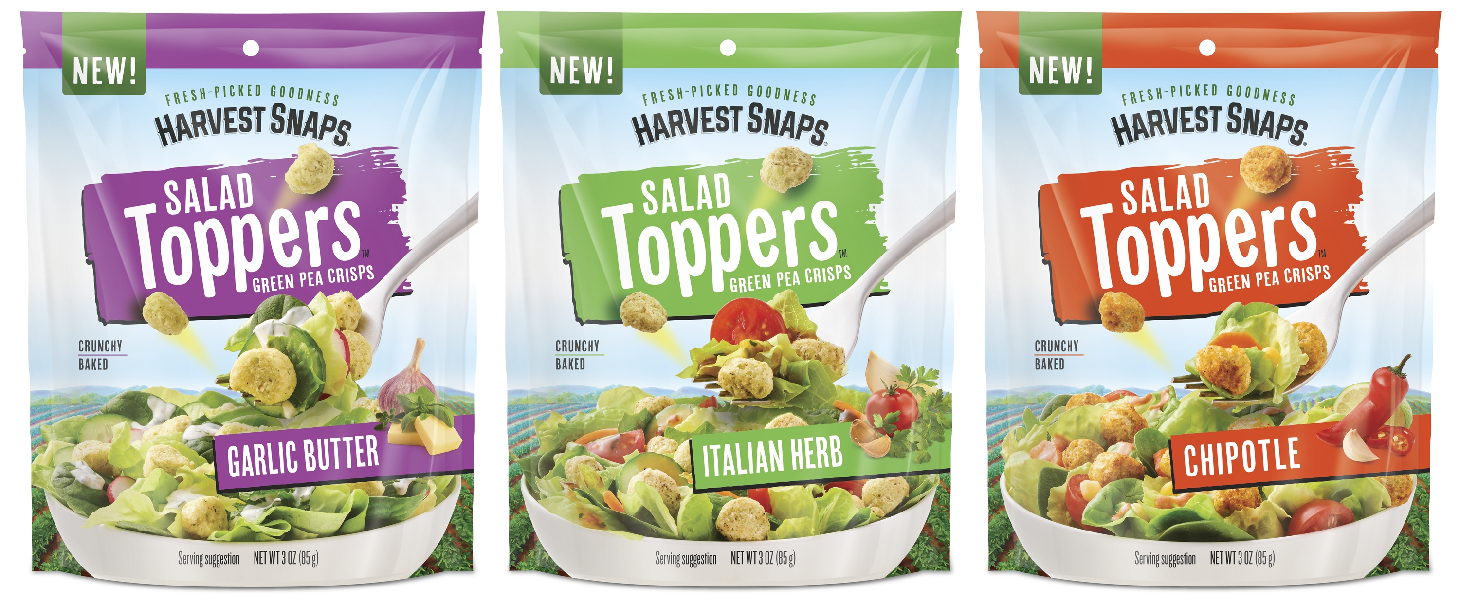 Harvest Snaps Launches Salad Toppers