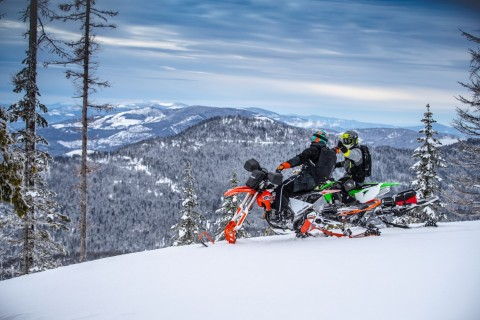 The 2020 Timbersled lineup includes a model for all terrains and every rider, from emerging riders to racers and backcountry explorers. (Photo: Polaris Timbersled)
