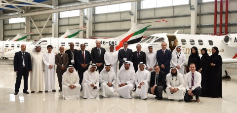 Group photo with 14 general managers and second-tier of civil aviation leaders in the Arab world (Photo: AETOSWire)