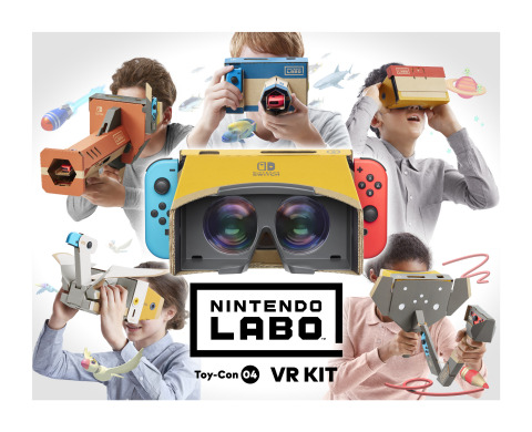 Experience a new dimension of Nintendo Labo with the launch of the Nintendo Labo: VR Kit on April 12, which combines the innovative physical and digital gameplay of Nintendo Labo with basic VR technology to create a simple and shareable virtual reality experience for kids and families. (Graphic: Business Wire)