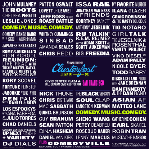 Clusterfest 2019 Line Up (Graphic: Business Wire)