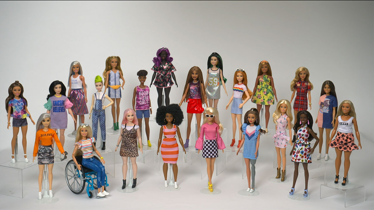 Barbie's 60th anniversary b-roll and sound bytes.