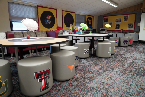 The Big 12 Conference, in partnership with the College Football Playoff Foundation's Extra Yard for Teachers initiative and Phillips 66, today revealed its transformation of the library at Noble Prentis Elementary School in Kansas City, Kansas. (Photo: Business Wire)