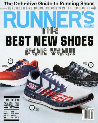 The innovative Skechers GO RUN Razor 3 Hyper™ performance running shoe lands the cover as Editors' C ...