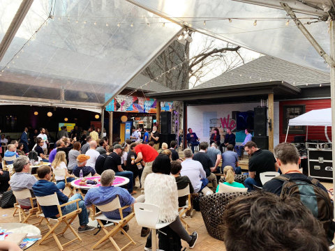 """AIA hosted a panel, """"Flying cars, Supersonic jets, Space Tourism & Beyond: Aerospace in 2050,"""" at WeDC House at Banger's in conjunction with SXSW in Austin to discuss our new report, """"What's Next for Aerospace and Defense: A Vision for 2050."""" (Photo: Aerospace Industries Association)"""