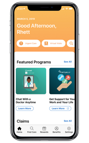 The next-generation Rally consumer digital health platform enables users to access and manage their employee benefits in a single web or mobile experience. (Graphic: Business Wire)