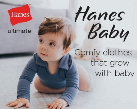 Hanes, America's No. 1 apparel brand, is bringing its trademark level of comfort and innovation to the newest and smallest members of our country's families. The brand has launched its Ultimate Baby line, which includes Flexy and Zippin collections, exclusively in Amazon's online and mobile stores. Photo courtesy of Daniela Ramirez (@Nany)