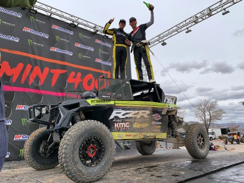 Polaris RZR® Factory Racing Captures Two UTV Titles at the Iconic Mint 400 (Photo: Business Wire)