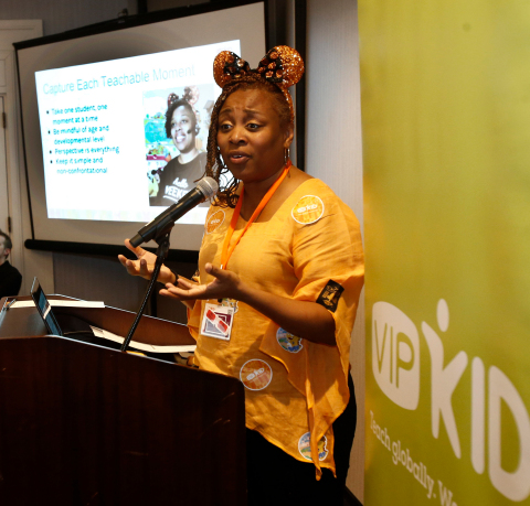 Teacher leading a workshop for participants of VIPKid's fourth regional Journey conference in Chicago, March 9, 2019 (Photo: Business Wire)