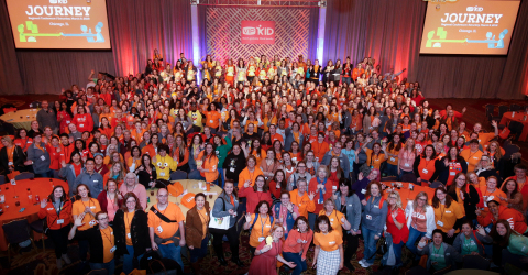 Group photo at VIPKid's fourth regional Journey conference in Chicago, March 9, 2019 (Photo: Business Wire)
