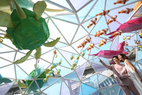 """""""The Wave of Coexistence"""" by Jang Se II @Harbour City (Photo: Business Wire)"""