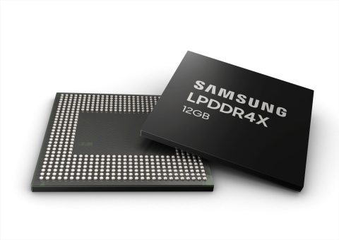 Samsung Electronics 12GB LPDDR4X memory package (Photo: Business Wire)