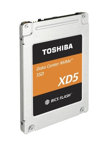 Toshiba Memory Corporation: 2.5-inch Form Factor Product of Data Center NVMe(TM) SSDs (Photo: Business Wire)
