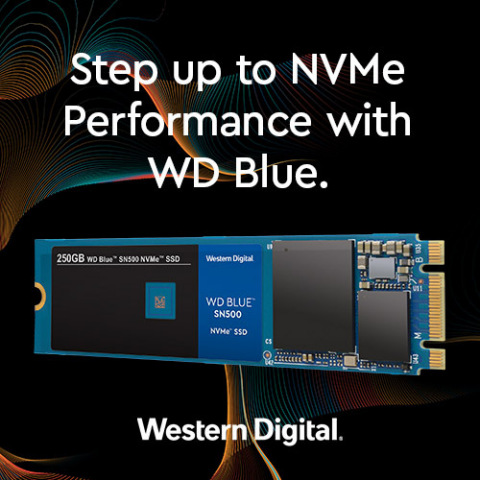 Step up to NVMe Performance with WD Blue NVMe SSD