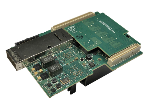 Netronome Agilio CX 50GbE SmartNIC in OCP Mezzanine 2.0 form factor with line-rate advanced cryptography and 2GB onboard DDR memory. (Photo: Business Wire)