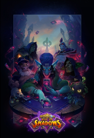 Hearthstone players get to team up with the League of E.V.I.L.—a supergroup of Azeroth's most nefarious villains—in Rise of Shadows, the next expansion for Blizzard Entertainment's smash-hit digital card game. (Photo: Business Wire)