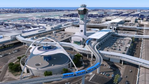 Rendering of the Los Angeles International Airport's Automated People Mover (Photo: Business Wire)