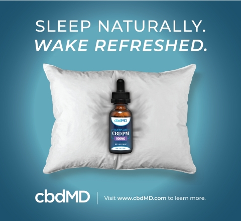 In Conjunction with Daylight Savings, cbdMD Launches Highly Anticipated CBD Sleep Aid (Photo: Business Wire)
