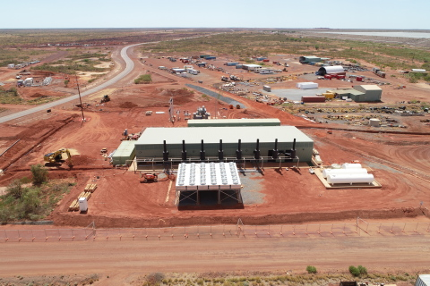 Newmont's Tanami (Granites) natural gas power station in Northern Territory, Australia. (Photo: Business Wire)