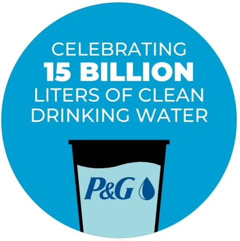 This World Water Day, Procter & Gamble (P&G) is celebrating the achievement of its 2020 goal of delivering 15 billion liters of clean drinking water through its non-profit Children's Safe Drinking Water (CSDW) Program. (Graphic: Business Wire)