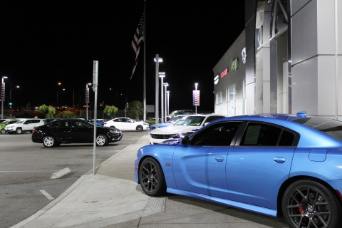 Dodge Charger shows off its true colors under new LED lights at San Leandro Chrysler Jeep Dodge Ram  ...
