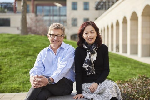 John Etchemendy and Fei-Fei Li will be directing the new Stanford Institute for Human-Centered Artificial Intelligence. (Image credit: Drew Kelly)