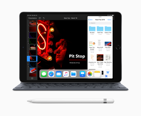 The new iPad Air with support for Apple Pencil and Smart Keyboard introduces high-end features and performance at a breakthrough price. (Photo: Business Wire)
