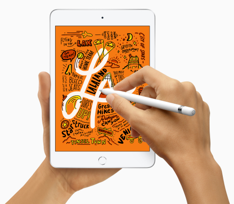 A major upgrade to the beloved iPad mini brings Apple Pencil support, Retina display and the A12 Bionic chip. (Photo: Business Wire)