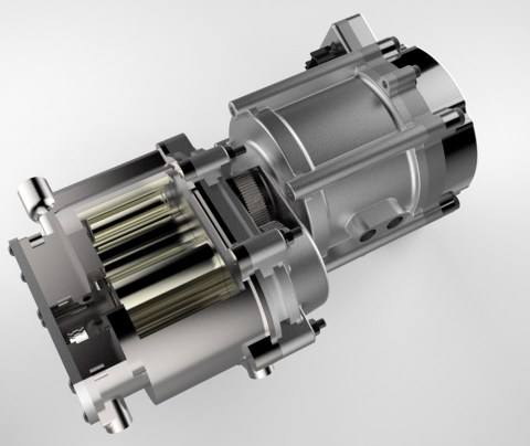 Eaton's TVS® EGR pump is driven by a 48V electric motor, making it completely independent from engine speed and significantly more controllable. (Graphic: Business Wire)