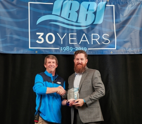 Garmin received the prestigious 2018 Supplier of the Year distinction from the Independent Boat Builders, Inc. (IBBI), the industry's largest purchasing cooperative comprised of a 19-member network of leading boat brands that collectively build nearly 25% of all boats sold in the U.S. (Photo: Business Wire)