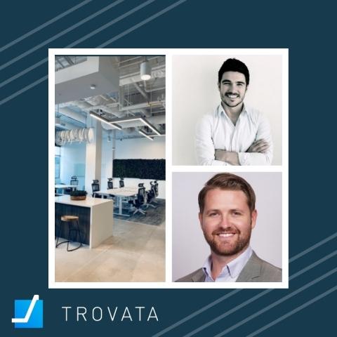 Trovata.io welcomes Joseph Drambarean and Dave McCutcheon to its new office. (Photo: Business Wire)