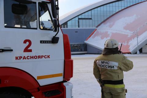 Сотрудники МЧС обеспечивают пожарную безопасность всех тестовых соревнований Зимней Универсиады