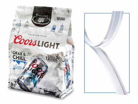 The Molson Coors 12-Pack Cooler Bag by Bemis Company features the EASY-LOCK by APLIX® closure system for flexible packaging. (Photo: Business Wire)
