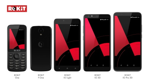 ROKiT's line of five mobile handsets (Photo: Business Wire)