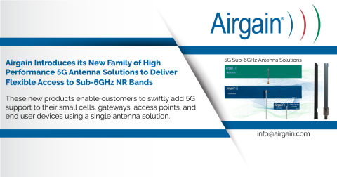 Airgain's new family of 5G antenna solutions (Graphic: Business Wire)