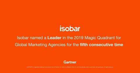 Gartner names Isobar a Leader for the fifth consecutive time.