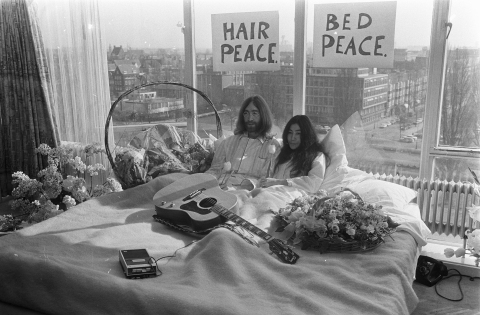 John Lennon and Yoko Ono appear courtesy of Yoko Ono Lennon.