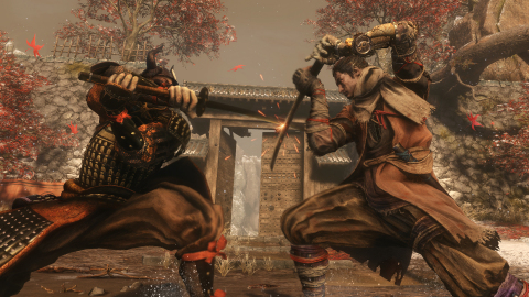 """Launching today is Sekiro™: Shadows Die Twice, an action-adventure videogame with RPG elements. In the game, players are the """"one-armed wolf,"""" a disgraced and disfigured warrior rescued from the brink of death. Death becomes an ally and enemy as fans come face-to-face with larger than life foes; unleash an arsenal of deadly prosthetic tools and powerful ninja abilities, to blend stealth, vertical traversal, and visceral head-to-head combat in a bloody confrontation. (Photo: Business Wire)"""