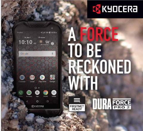 Kyocera Launches Rugged FirstNet Ready™ DuraForce PRO 2 Military-Grade 4G LTE Smartphone With AT&T (Photo: Business Wire)