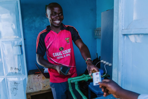 The revenues from the Kibera School for Girls' Clean Water Access Project support the water system a ...