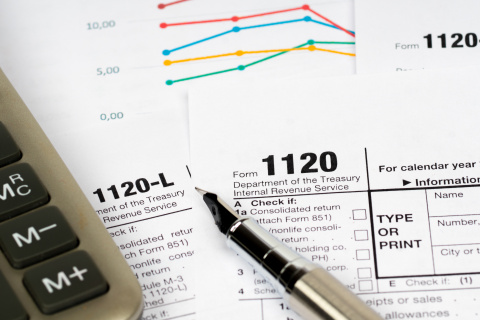 Business owners use IRS Form 1120 when electing to be taxed as a corporation. (Photo: Business Wire)